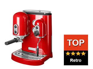 Červený retro kávovar